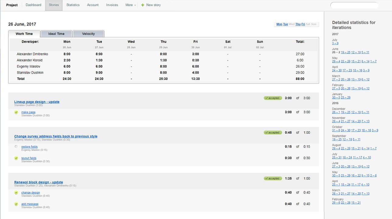 Tracker - Statistics