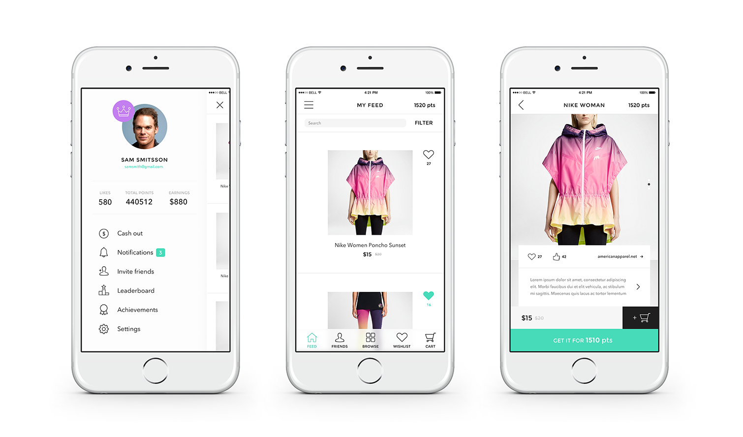 Mobile shopping app projects anadea for Design online shop