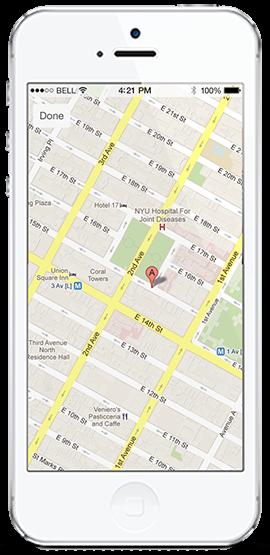 Agentfolio mobile app - map
