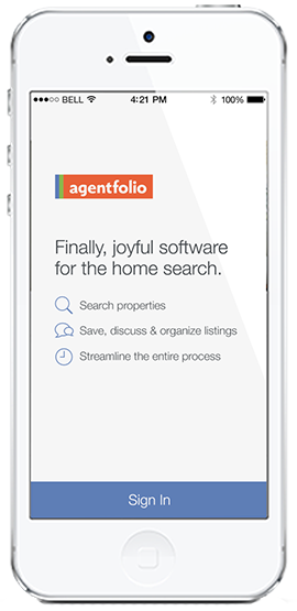 Agentfolio mobile app - splash